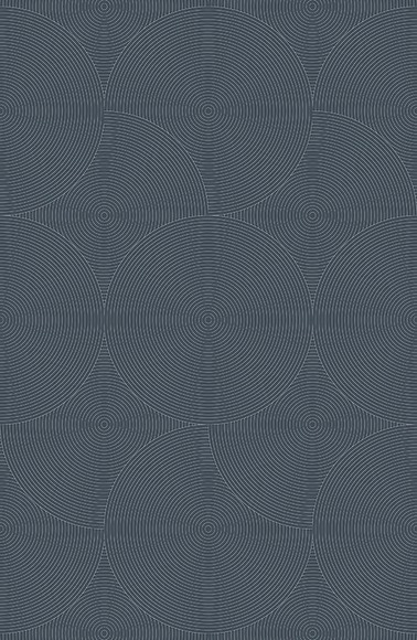 Mustertapete Kreise 03 - Gesamtansicht (4 Bahnen)
