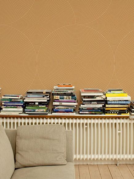 Mustertapete Kreise 04 - Kreise 04 im Wohnzimmer