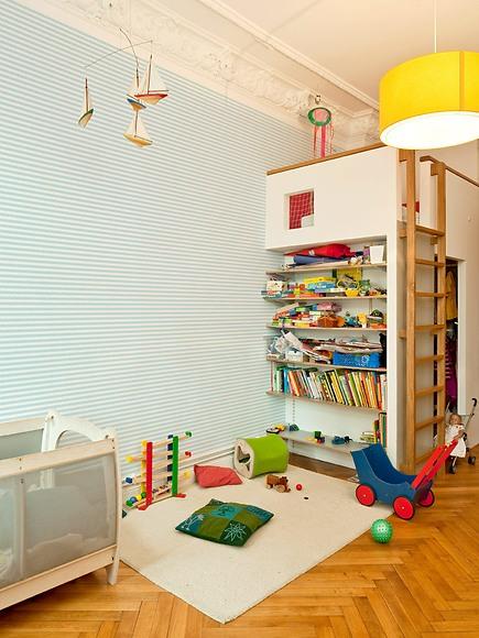 Mustertapete Linien 02 - Linien 02 im Kinderzimmer