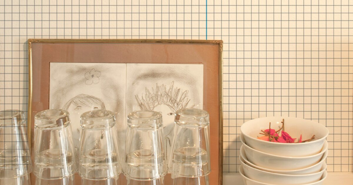 mustertapete linien 03 vliestapeten designtapeten bei extratapete. Black Bedroom Furniture Sets. Home Design Ideas