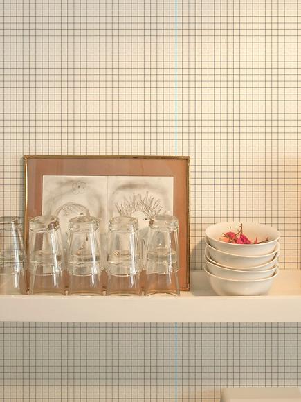 Mustertapete Linien 03 - Linien 03 in der Küche